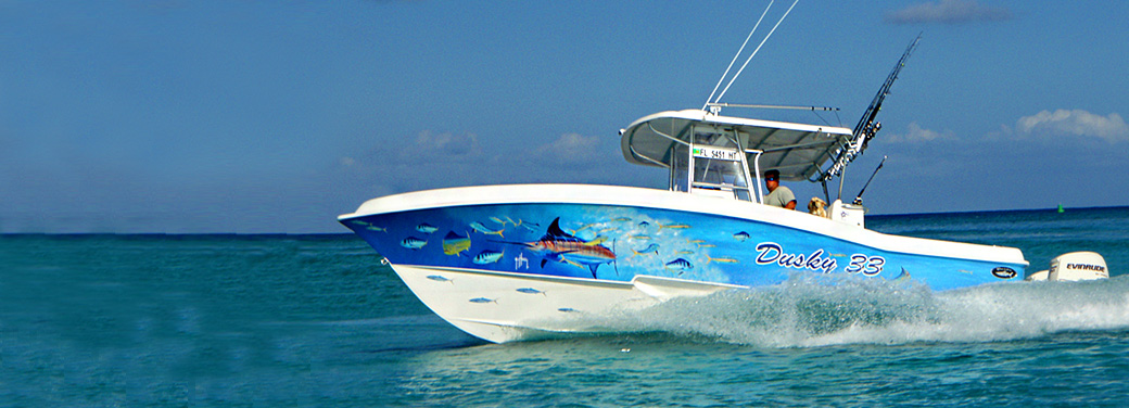 St Martin offshore fishing boat